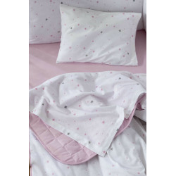 Σετ σεντόνια Nima Bebe Nene Pink 120 x 170 cm