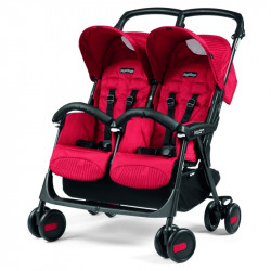 Καρότσι διδύμων Peg-Perego Aria Twin Shopper Classico Geo Red