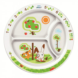 Philips-Avent εκπαιδευτικό πιάτο φαγητού (SCF702/00)