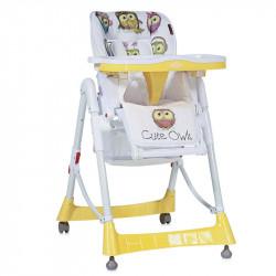 LoreLLi® καρέκλα φαγητού Primo Yellow Cute Owls