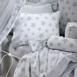 Σεντόνια DOWN TOWN BABY Starry Grey125 x 175 cm σετ των 3