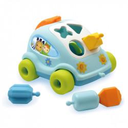 Εκπαιδευτικό αυτοκινητάκι σχημάτων Smoby Cotoons 2 χρώματα