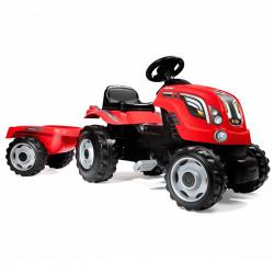 Ποδοκίνητο τρακτέρ με τρέιλερ Smoby Farmer XL Tractor + Trailer