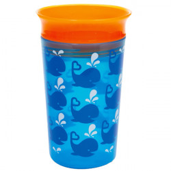 Munchkin κύπελο Miracle Deco Sippy Blue Whale 266 ml