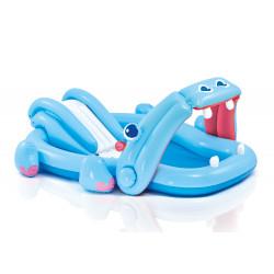 Φουσκωτή πισίνα με τσουλήθρα INTEX® Hippo Play Center 3+ ετών