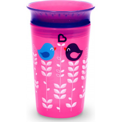 Munchkin κύπελο Miracle Deco Sippy Pink Bird 266 ml