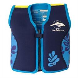 Σωσίβιο - γιλέκο Konfidence™ Original Jacket Navy Blue Palm 4-5 ετών