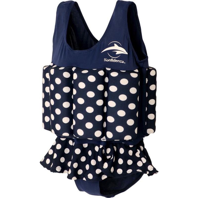 516960248dd Σωσίβιο - ολόσωμο μαγιό Konfidence™ Floatsuit Navy Polka Dot 1-2 ετών