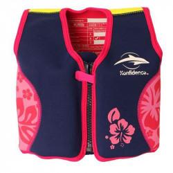 Σωσίβιο - γιλέκο Konfidence™ Original Jacket Pink Hibiscus 4-5 ετών