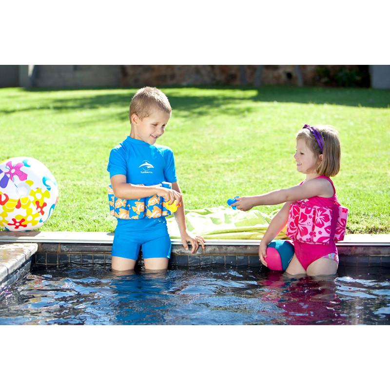 ae165138308 ... Σωσίβιο - ολόσωμο μαγιό Konfidence™ Floatsuit Pink Hibiscus 2-3 ετών