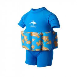 Σωσίβιο - ολόσωμο μαγιό Konfidence™ Floatsuit Cyan Clownfish 2-3 ετών