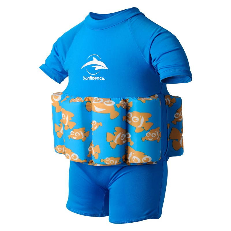 77c3ca2bb7a Σωσίβιο - ολόσωμο μαγιό Konfidence™ Floatsuit Cyan Clownfish 1-2 ετών