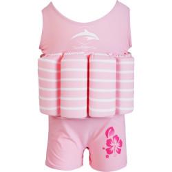 Σωσίβιο - ολόσωμο μαγιό Konfidence™ Floatsuit Pink Breton Stripe 1-2 ετών
