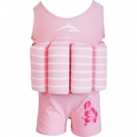 c19494edb32 Σωσίβιο - ολόσωμο μαγιό Konfidence™ Floatsuit Pink Breton Stripe 1-2 ετών