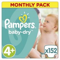 Πάνες monthly pack Pampers Baby Dry Maxi Plus 9-18 kg
