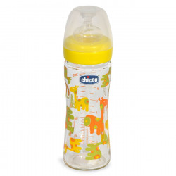 Chicco μπιμπερό Nature Glass Giraffe 240 ml 0M+