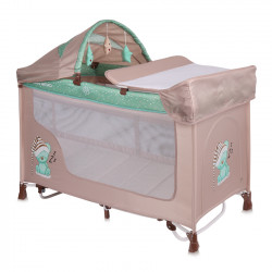 Παρκοκρέβατο 2 επιπέδων LoreLLi® San Remo Plus Beige & Green Sleepin Bear