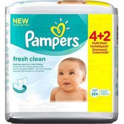 Μωρομάντηλα Pampers® Fresh Clean Mega 4+2 ΔΩΡΟ