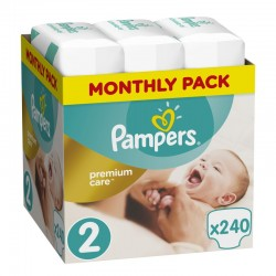 Πάνες monthly pack Pampers Premium Care No 2 (3-6 kg) 240 τεμάχια