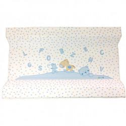 Αλλαξιέρα μαλακή X-treme Baby Blue Letters & Stars 70 x 44 cm
