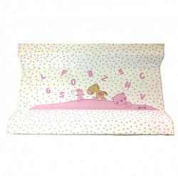 Αλλαξιέρα σκληρή X-treme Baby Pink Letters & Stars 80 x 50 cm