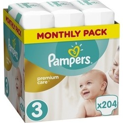 Πάνες monthly pack Pampers® Premium Care No 3 (5-9 kg) 204 τεμάχια