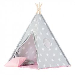Παιδική σκηνή δωματίου WigiWama Teepee Set Large Stars Pink