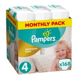 Πάνες monthly pack Pampers® Premium Care 4 (8-14 kg) 168 τεμάχια