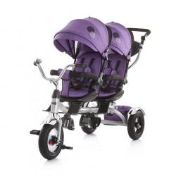 Τρίκυκλο ποδήλατο διδύμων ChipoLiNo Tandem Purple
