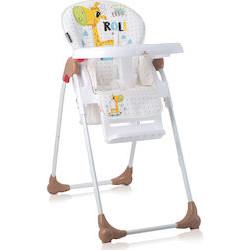 LoreLLi® καρέκλα φαγητού Oliver White & Beige Giraffe