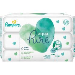 Pampers® μωρομάντηλα Aqua Pure - Οικονομική συσκευασία 3 πακέτα των 50