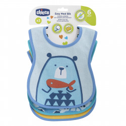 Chicco Easy Meal σαλιάρες 6m+ σετ των 3