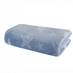 Κουβέρτα βελουτέ Nef-Nef Homeware Astro Blue 75 x 100 cm