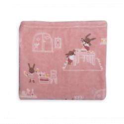 Κουβέρτα fleece Nef-Nef Homeware Rabbit In The House 110 x 140 cm