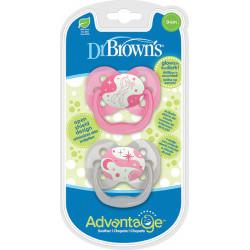 DrBrown's™ πιπίλες νύχτας Advantage™ 0-6M, σετ των 2