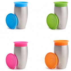 Munchkin κύπελλο και καπάκι Miracle® 360° Stainless Steel Sippy 296ml