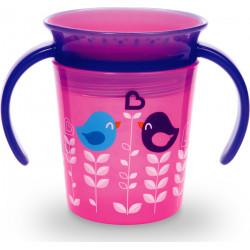 Munchkin εκπαιδευτικό κύπελο Miracle® 360° Deco Pink Bird 177 ml