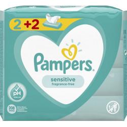 Pampers® μωρομάντηλα Sensitive 2+2 Δώρο πακέτα των 52 τεμαχίων