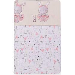Σετ σεντόνια λίκνου Nef-Nef Homeware Bunny Ladies 70 x 120 cm