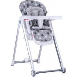 LoreLLi® καρέκλα φαγητού Party Grey Stars