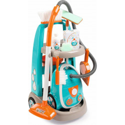 Τρόλεϊ καθαρισμού με ηλεκτρική σκούπα Smoby