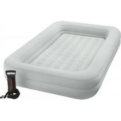 Φουσκωτό παιδικό κρεβάτι ταξιδίου και τρόμπα INTEX® Kidz Travel Bed Set 3-6 ετών
