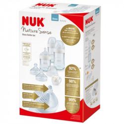 NUK® σετ δώρου γυάλινα 3 μπιμπερό Nature Sense 120 ml και 240 ml 0-6M και πιπίλα