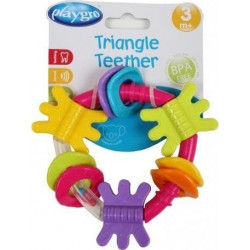 Playgro™ κουδουνίστρα οδοντοφυΐας Triangle Teether Pink