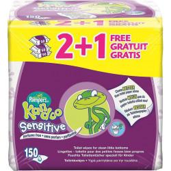 Υγρά παιδικά μαντηλάκια τουαλέτας Kandoo Sensitive 2+1 Δώρο