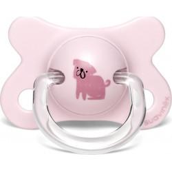 Suavinex πιπίλα Fusion Anatomical Good Dog Pink 2-4Μ