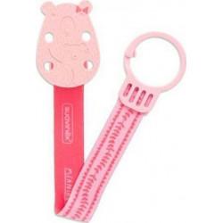 Suavinex κορδέλα πιπίλας Meaningful Life Dear Child Dark Pink Bear