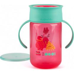 Suavinex εκπαιδευτικό κύπελλο 340 ml Trainer Cup Booo! Pink 12M+