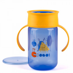 Suavinex εκπαιδευτικό κύπελλο 340 ml Trainer Cup Booo! Blue 12M+
