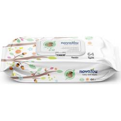Novalou μωρομάντηλα Baby Wet Wipes 64 τεμάχια